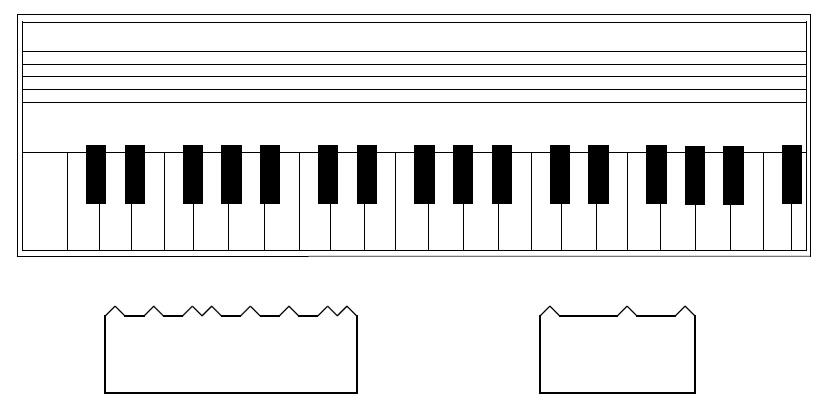 Modelltastatur mit Tonleiterschieber zum Ausschneiden   Ein Weg zur ...