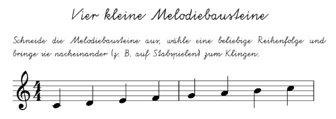 Elementare Spielstücke und musikalische Schriftlichkeit   Ein Weg ...